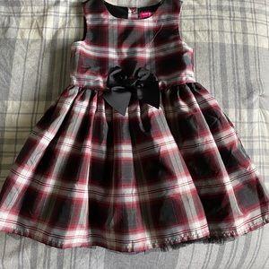 Girls Formal Plaid Dress